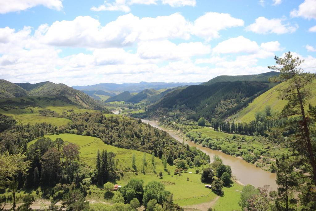 Whanganui River, da ging die verlassene Sackgassenstraße entlang.