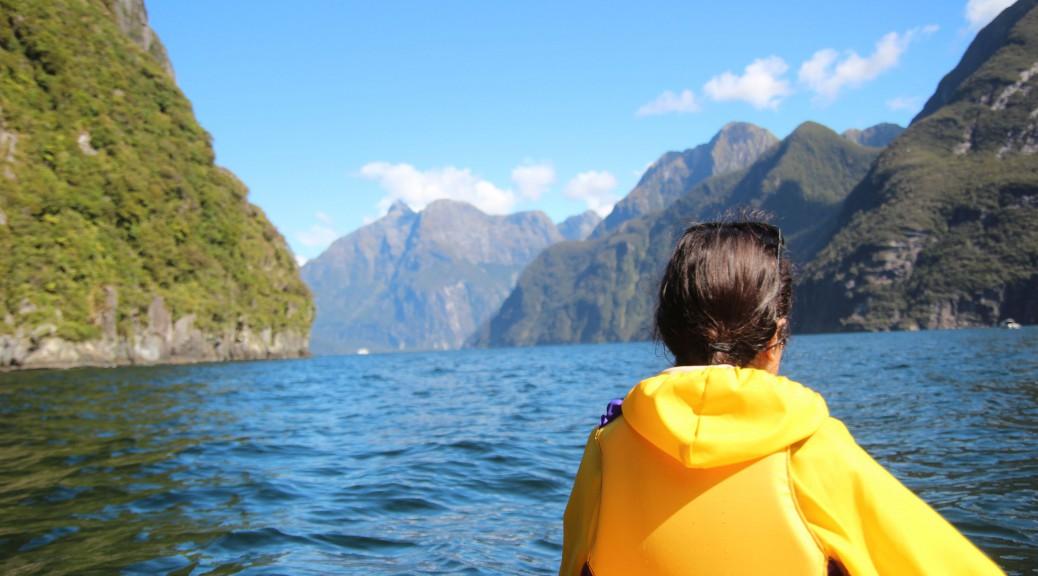 Beim Kajaken auf dem Fjord