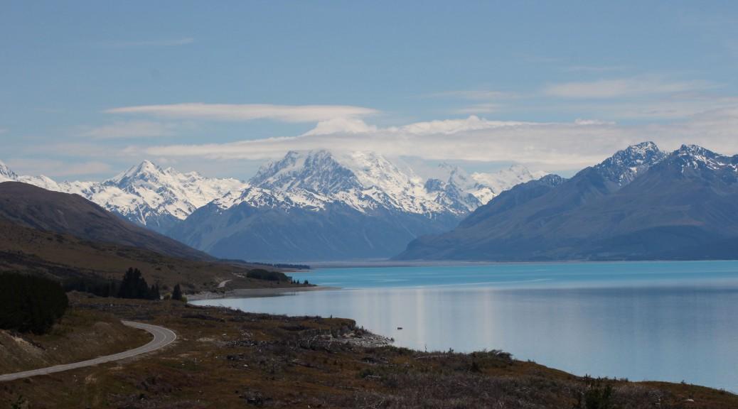Lake Pukaki mit dem Mt. Cook dahinter