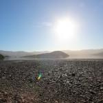 Blick auf vom Campingplatz auf die Bucht von der Banks Peninsula