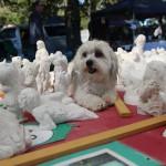 Porzelanfiguren auf einem coolen Markt.