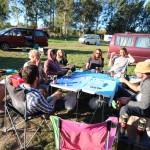 Unser Camp bei großer Pokerrunde