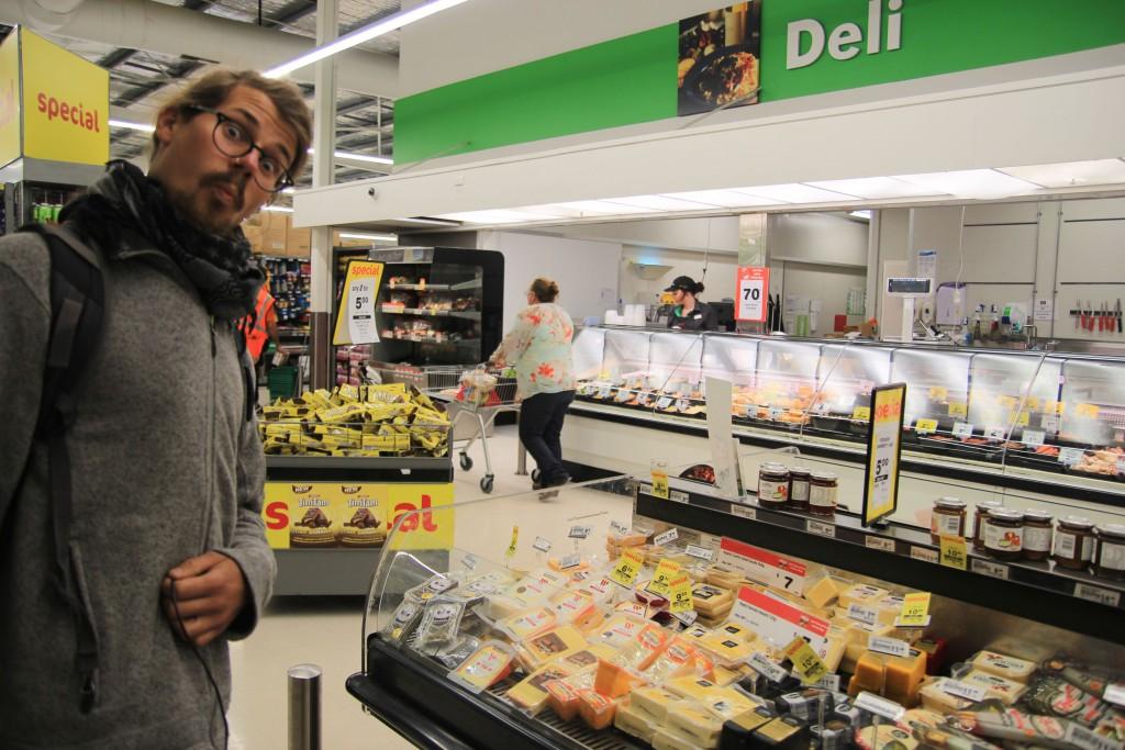 Franz beim Einkauf