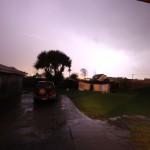 Da! Ein Blitz!