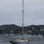Die Nimbus. Dieses Boot hat Bill in den 70ern selbst gebaut.