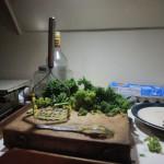 Veganer kochen Essen.