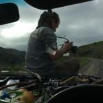 Franz beim Fahrt filmen
