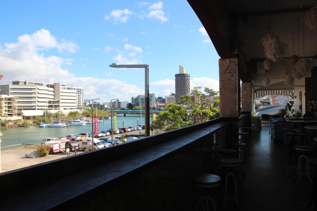 Townsville, Blick von unserem Hostel.