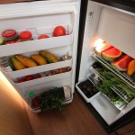 Unser prall gefüllter Kühlschrank. Oh ja, die Wassermelone hab ich im Artikel vergessen.